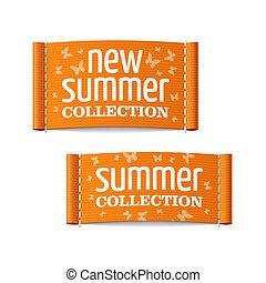 novo, etiquetas, cobrança, verão