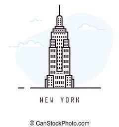 novo, linha, estilo, york