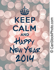 novo, mantenha, pacata, ano, 2014, feliz