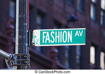 novo, moda, avenida, york, cidade