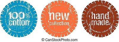 novo, selos, cobrança