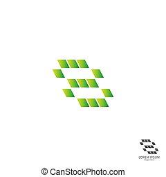 numere 8, logotipo, desenho, conceito, ícone, quadrado