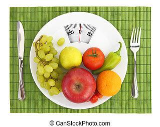 nutrição, dieta