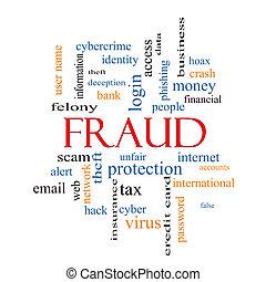 nuvem, conceito, palavra, fraude