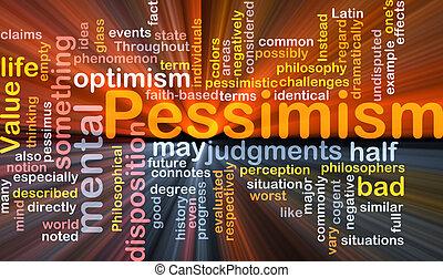 nuvem, glowing, palavra, pessimismo