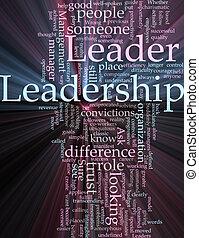 nuvem, liderança, palavra, glowing