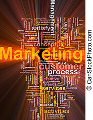nuvem, marketing, palavra, glowing
