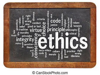 nuvem, palavra, ética
