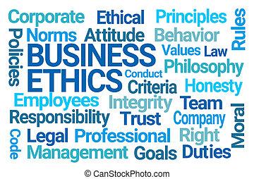 nuvem, palavra, ética negócio