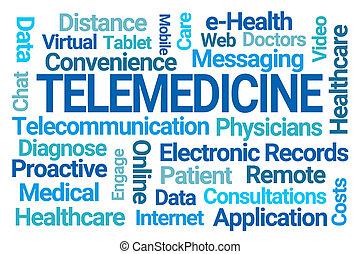 nuvem, palavra, telemedicine