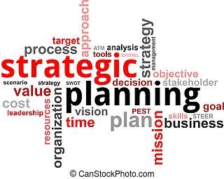 nuvem, planejamento estratégico, -, palavra