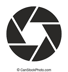 objetivo, câmera, (symbol), ícone