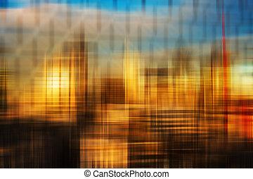 obscurecido, coloridos, fundo, abstratos