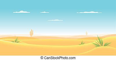 ocidental, profundo, deserto
