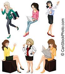 ocupado, mulheres