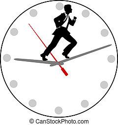 ocupado, pressa, nomeação, homem negócio