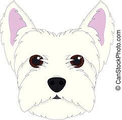 oeste, cão, ilustração, isolado, vetorial, fundo, branca, altiplano, terrier