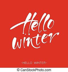 olá, inverno