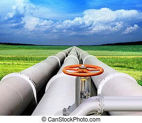 oleoduto, gas-transmission