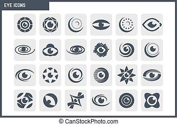 olho, ícone, jogo, vetorial