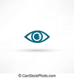 olho azul, ícone