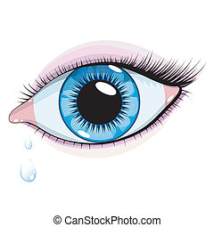 olho azul, mulher