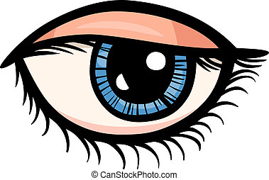 olho, corte arte, caricatura, ilustração