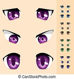 olhos, animais