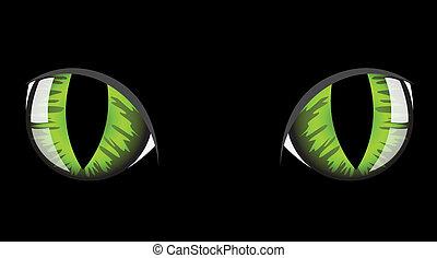 olhos, gato
