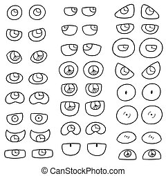 olhos, vetorial, jogo