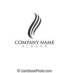 onda, ilustração, cabelo, logotipo, ícone