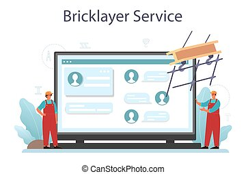 online, instalador, ou, ajustador, serviço, industrial, construtor, platform.