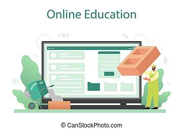 online, ou, profissional, serviço, construir, construtor, platform., pedreiro