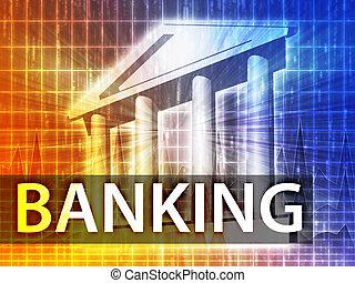 operação bancária, ilustração