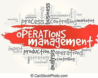 operações, gerência, palavra, nuvem