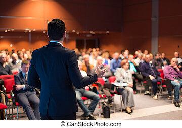 orador, conferência, negócio, presentation.