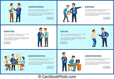 ordem, trabalhando, demissão, trabalho, relatório, reunião