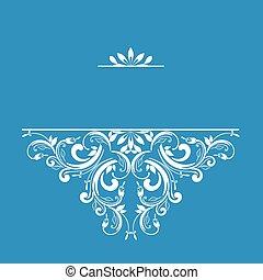 ornamental, padrão, convites