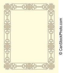 ornamental, quadro, vetorial, vindima