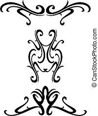 ornamental, tribal, desenho