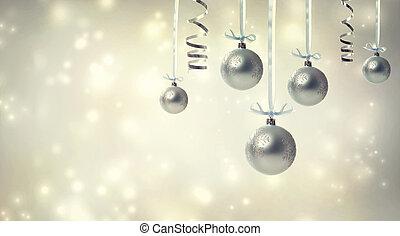 ornamentos natal, prata
