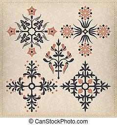 ornaments., vetorial, jogo