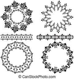 otomano, elementos, desenho