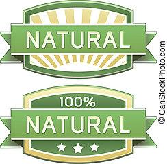ou, alimento, natural, etiqueta, produto