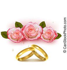 ouro, anéis, casório