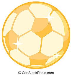 ouro, bola, futebol