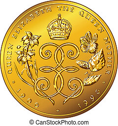 ouro, dinheiro, dólar, bermudas, vetorial, moeda
