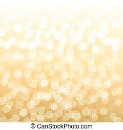 ouro, fundo, obscurecido