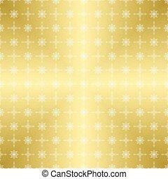 ouro, padrão, -, vetorial, ornamento, branca