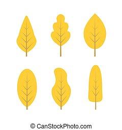 outono, árvores., jogo
